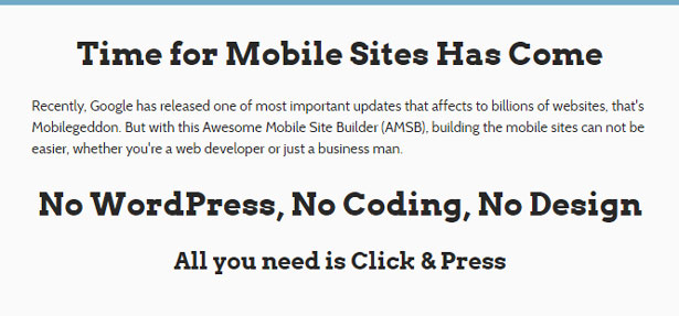 Awesome Mobile Site Builder (AMSB) - PRO - 2