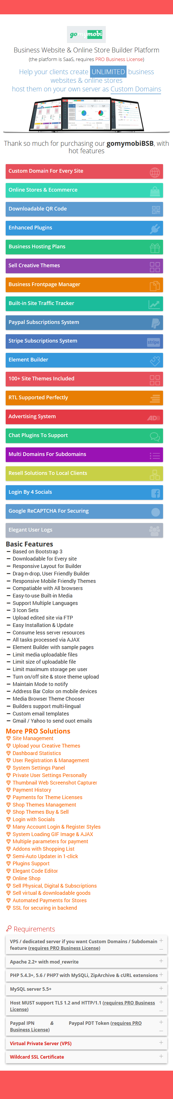 gomymobiBSB 2021 (v3): B2C Site & Store Builder with Domains, Element Builder, Paypal, Chat - 4