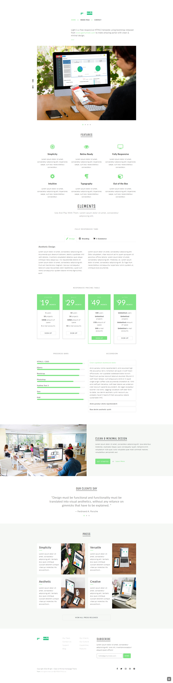 gomymobiBSB's Site Theme: Light - Clean Homepage - 2