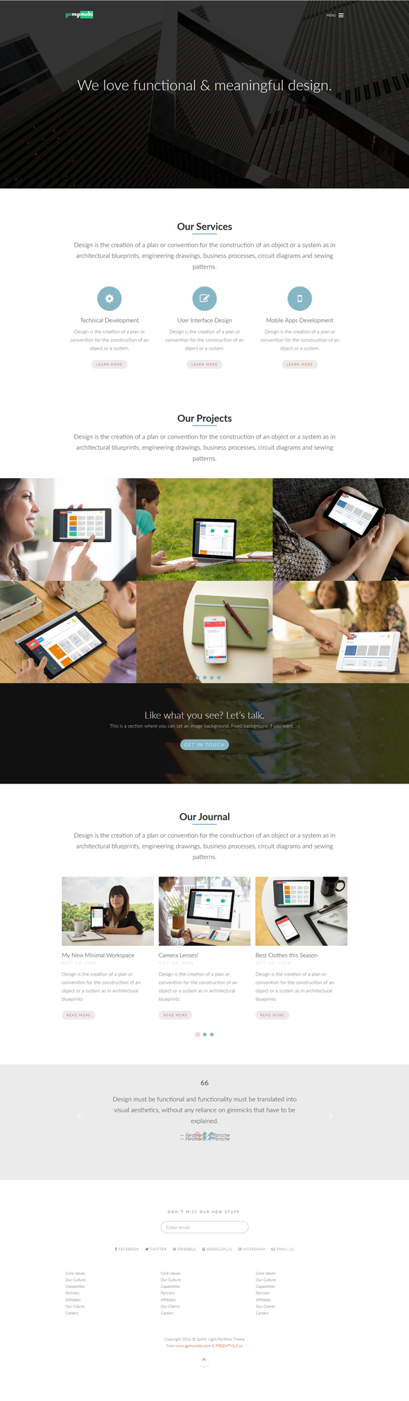 gomymobiBSB's Site Theme: Sprint - Light Portfolio - 2