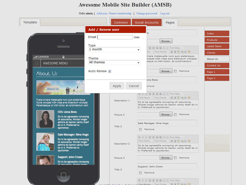 AMSB-Membership-system-to-run-own-business Online Form Builder Source Code on