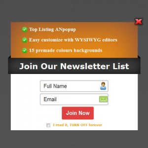 ANpopup Theme: Top Listing