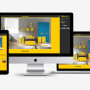 Awesome Mobile Site Builder - Modern Themes - Yellow