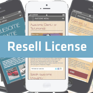 Awesome Mobile Site Builder - Resell License